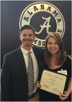 Dr. Griffin and undergraduate researcher Kacey Smit