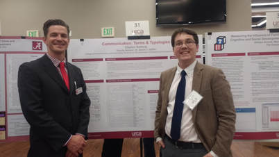 Dr. Griffin and Emerging Scholar researcher Clayton Gotberg